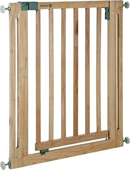 Natural, 89-97cm Safetots Chunky Wooden Pressure Fit Child and Pet Gate /