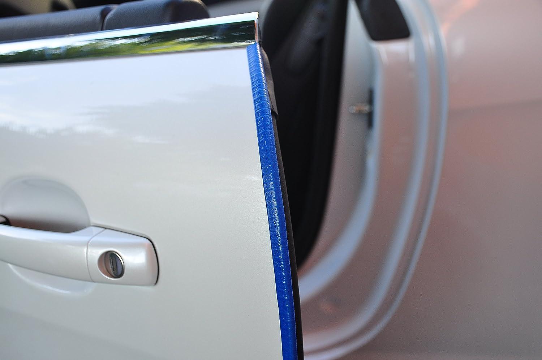 schwarz T/ürrammschutz Gummi sch/ützen Sie effektiv Ihren kostenbaren Auto Lack 4 Meter T/ürkantenschutz Carbon Look