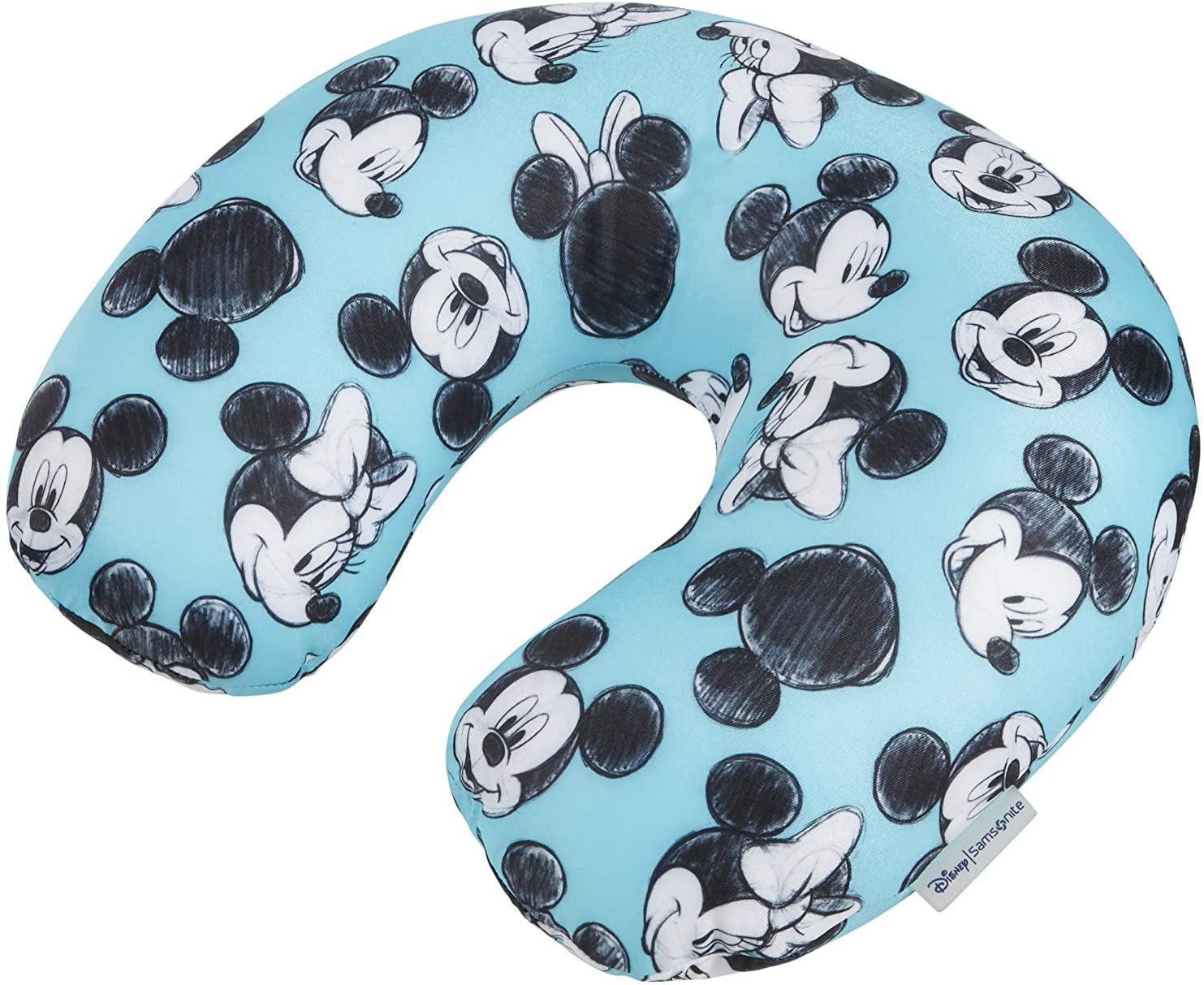 Samsonite Global Ta Disney Microbead Almohada de Viaje, 32 cm, Azul (Mickey/Minnie Blue)