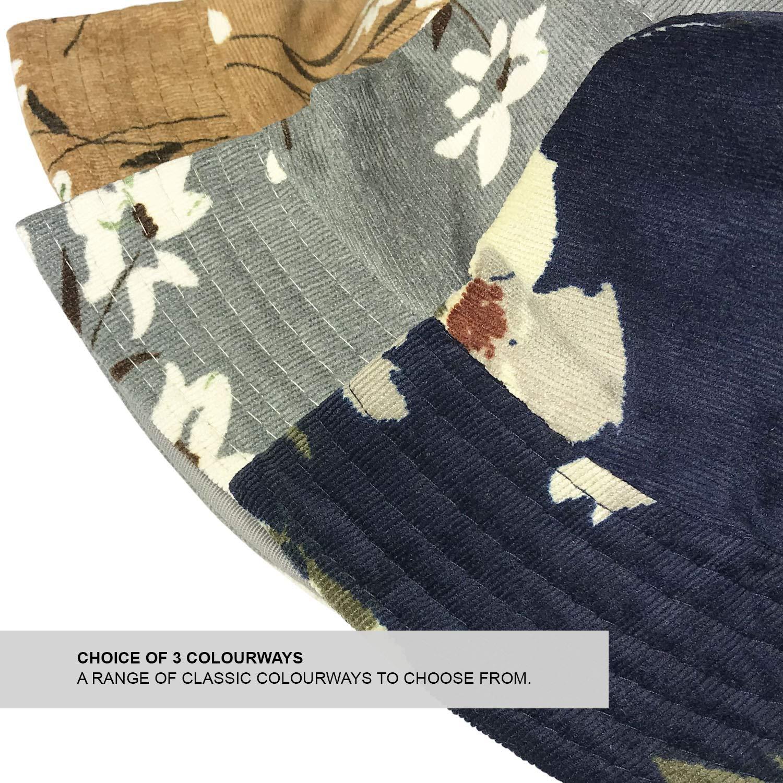Ladies Womens Soft Fine Floral Print Summer Hat TOSKATOK UPF 50