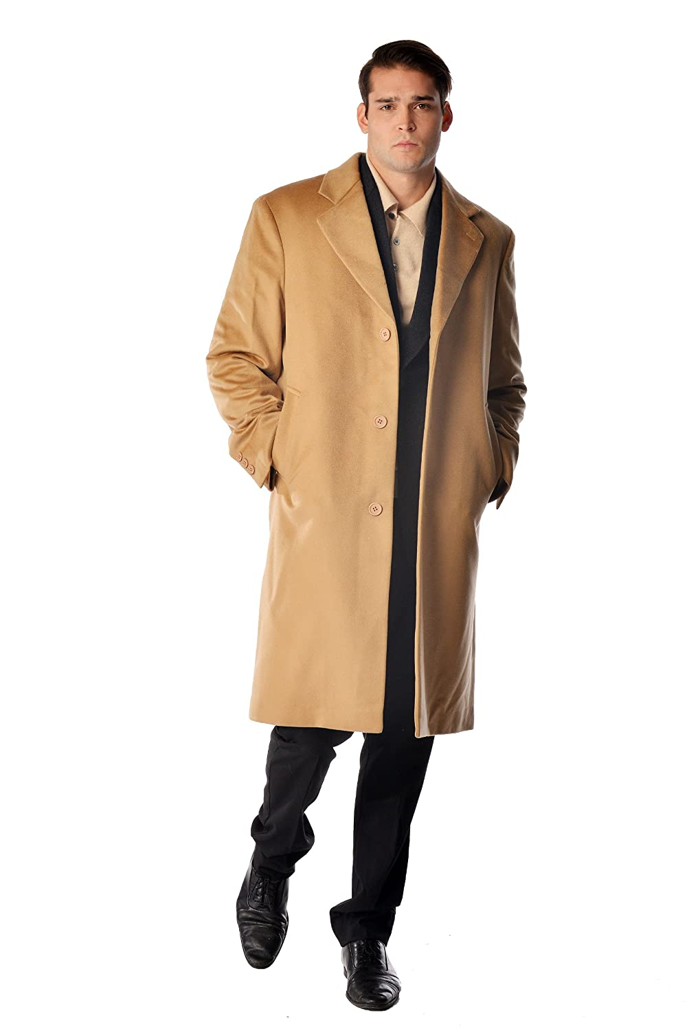 Men's Knee Length Overcoat in Pure Cashmere at Amazon Men's ...