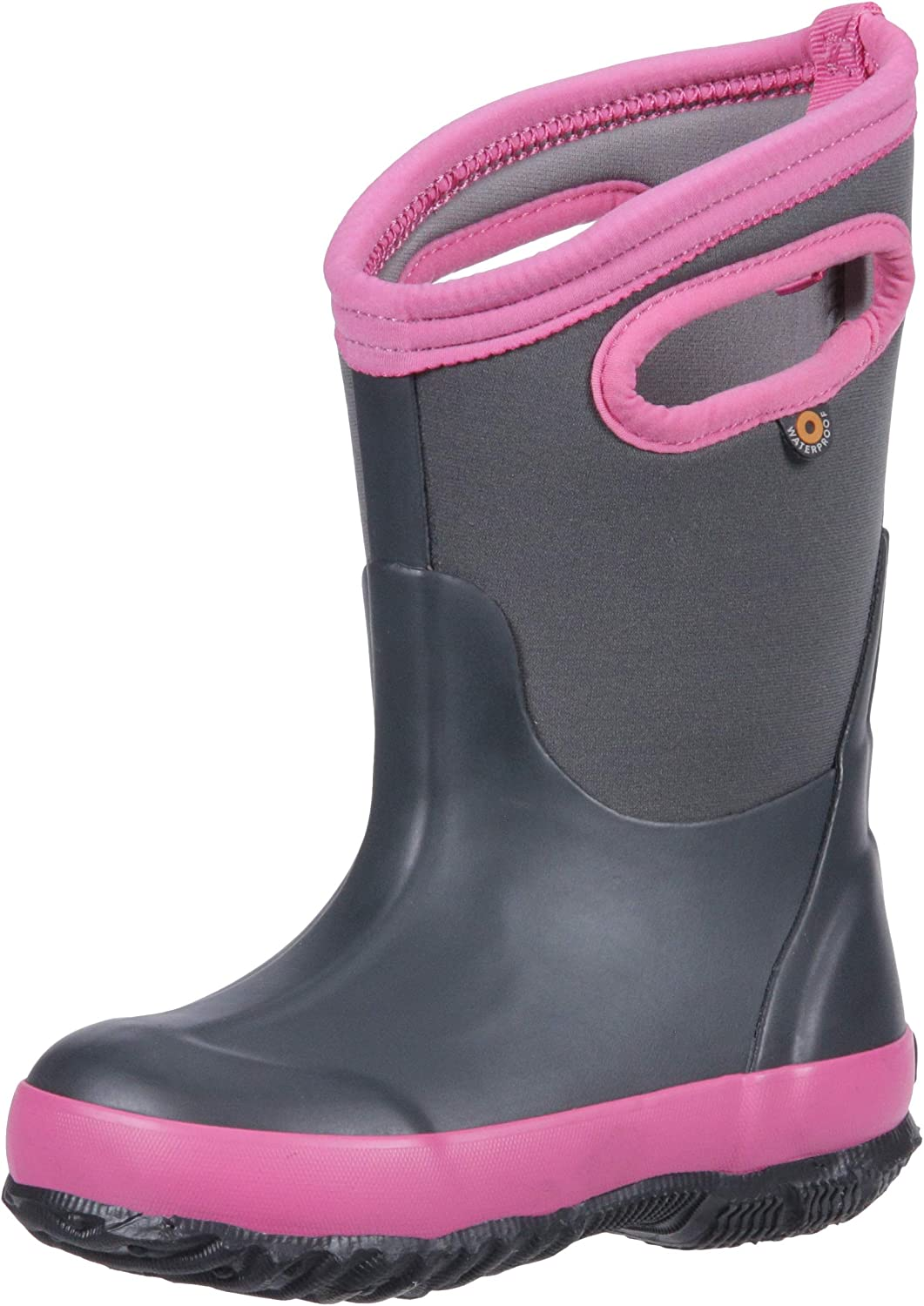 Multiple Color Options Girls and Toddlers Bogs Kids Classic High Waterproof Insulated Rubber Rain and Winter Snow Boot for Boys