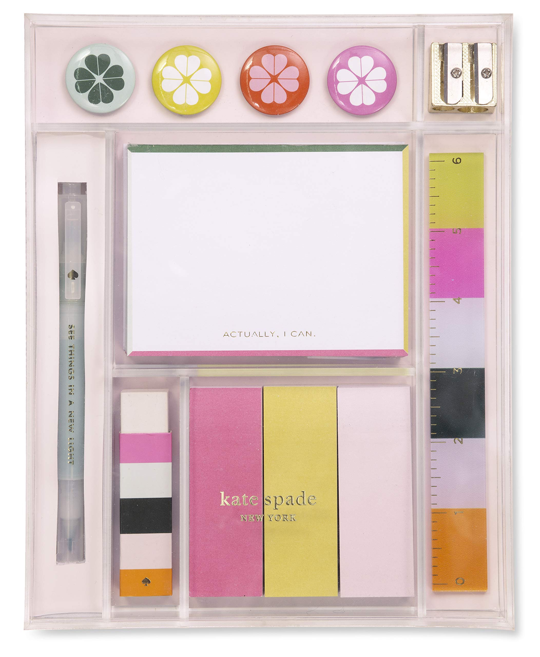 Kate Spade New York Women's Office Supplies Tackle Box Desk Organizer, Actually I Can by Kate Spade New York