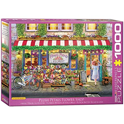 EuroGraphics Plush Petals Florist by Paul Normand 1000-Piece Puzzle: Toys & Games