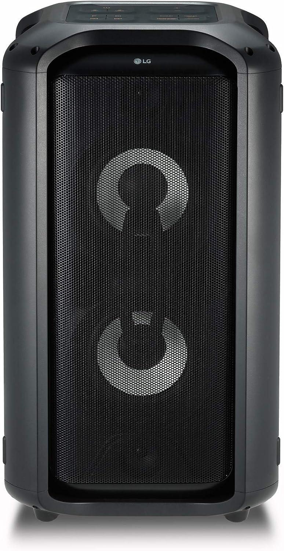 LG XBOOM RK7 - Altavoz Hi-Res (550 W, Bluetooth, Iluminado, Funciones Karaoke, USB, Conexión micrófono, aptX HD) Color Negro