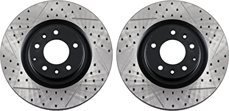 REAR SET BRAKENETIC PREMIUM SLOTTED Brake Disc Rotors BNP35115.SS