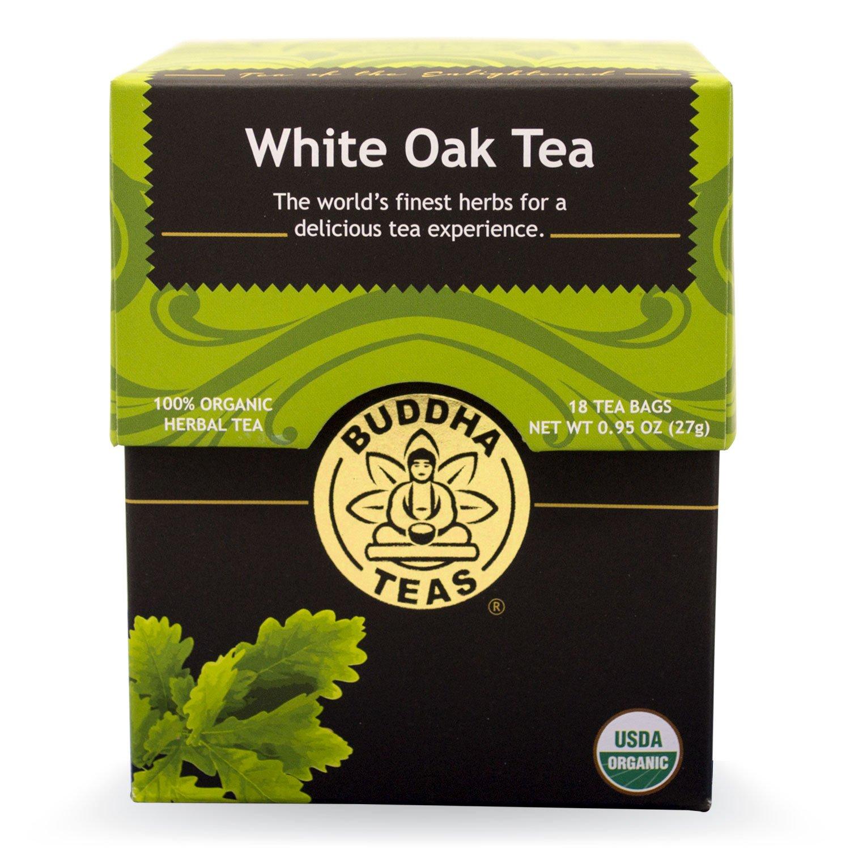Buddha Teas White Oak Tea, 18 Count (Pack of 6)