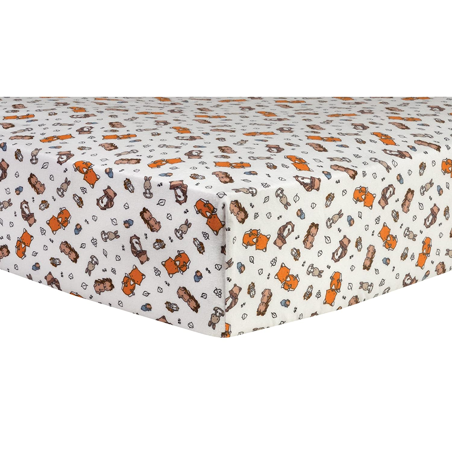 Trend Lab Wild Bunch Deluxe Flannel Fitted Crib Sheet 103174