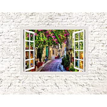 Fototapeten Fenster Toscana 352 x 250 cm Vlies Wand Tapete ...