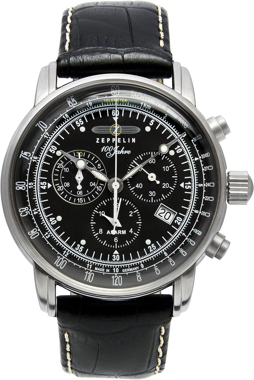 Zeppelin 32001781 - Reloj analógico para hombre (mecanismo de cuarzo, acero inoxidable)