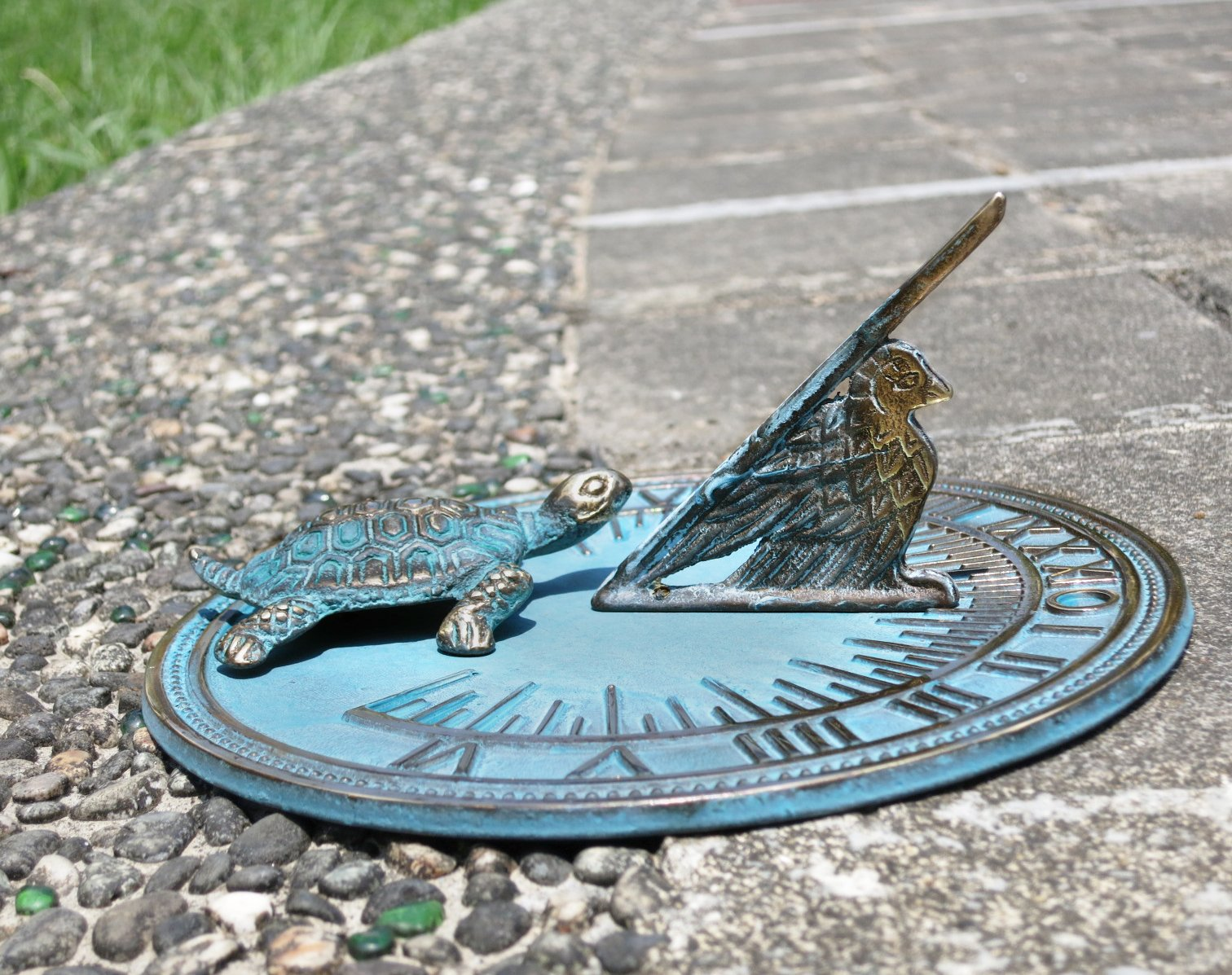 Brass Decorative Turtle Sundial 7'' Inches Wide by Taiwan (Image #2)