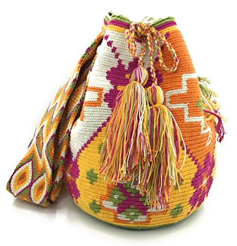 Mochila Wayuu, Bolsos Colombianos Artesanales con motivos tribales, tanto para mujer como para hombre