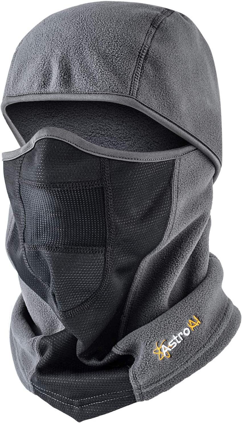 AstroAI Ski Mask Winter Face Mask Balaclava for Cold Weather Windproof Breathable for Men Women Skiing Snowboarding & Motorcycle Riding, Grey: Automotive