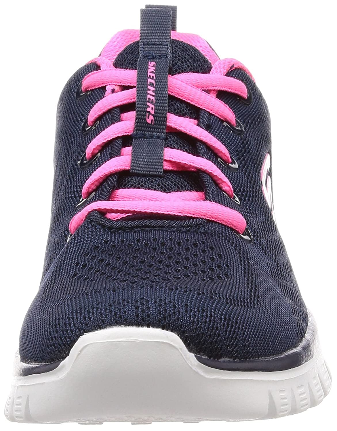 Skechers Women's Graceful-Get Connected Sneaker B074L58GBW Hot 7.5 B(M) US|Navy Blue Hot B074L58GBW Pink Trim 24497d