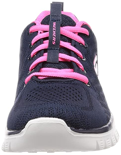 Skechers Graceful get Connected Sneaker Navy Blue Hot Pink Trim 6.5 B(M) US