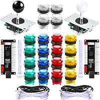Hikig 2 Player LED Arcade Games DIY Parts Kit 2X USB Encoders + 2X Arcade Joysticks + 20x LED Arcade Buttons for…