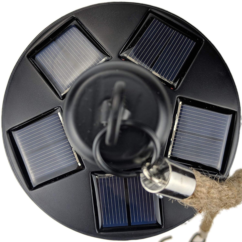 Yard Island Solar LED Edison Bulb Large Hanging Cage Lantern Style 2