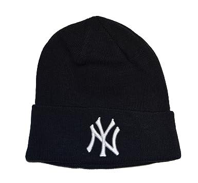 b550e2f8c New York Yankees Blue Beanie Hat - MLB Cuffed Winter Knit Cap