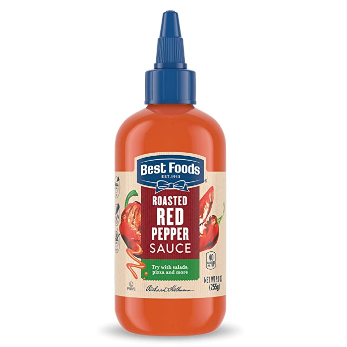 Best Foods Sauce For A Delicious Condiment, Dip and Dressing Roasted Red Pepper Gluten Free, Dairy Free, No Artificial Flavors, No High-Fructose Corn Syrup 9 oz (10048001012056)
