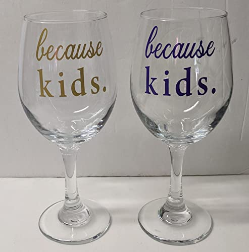 93c4632bb46 Amazon.com: Because Kids Wine Glasses | Mom Wine Glass | Work | Life ...