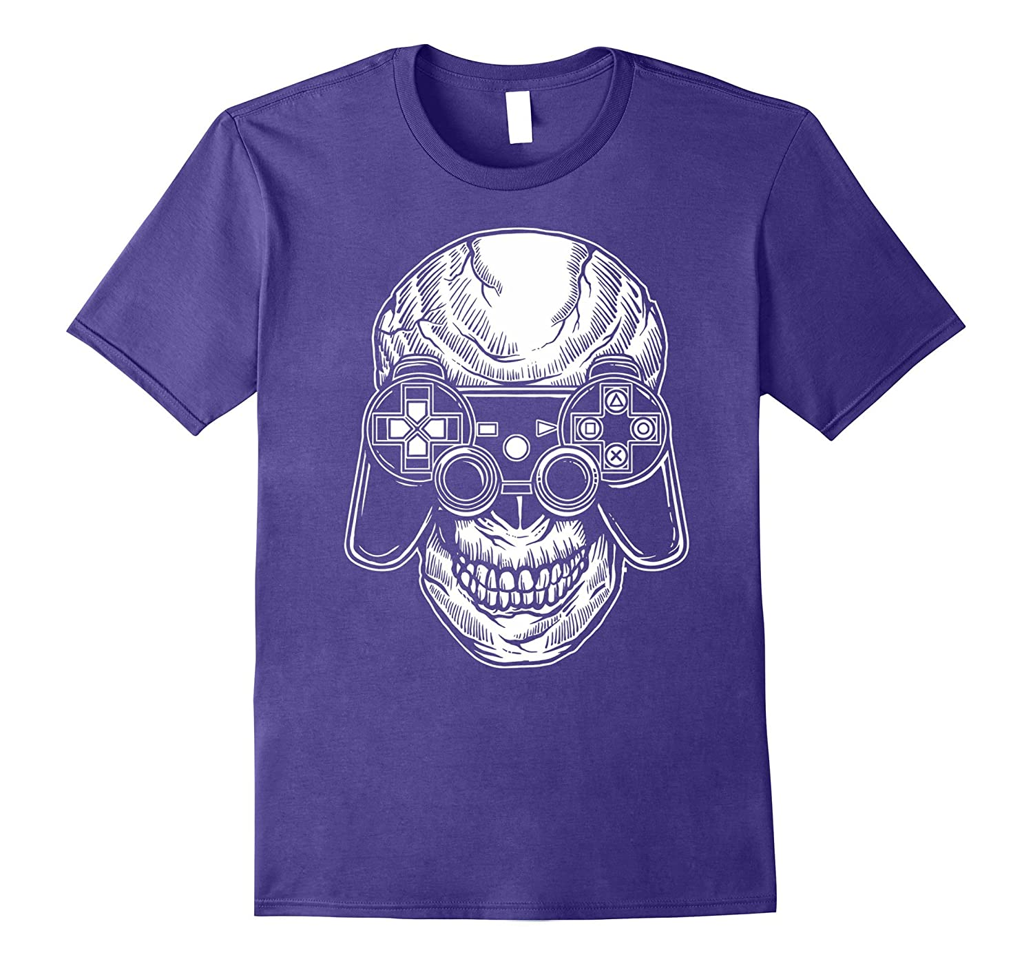 Video Game T-Shirt Skull Gaming Fun PC Arcade Controller Tee-TJ