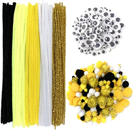 Pipe Cleaners Glitter Chenilles Gold 6mm x 300mm 20 Per Pack