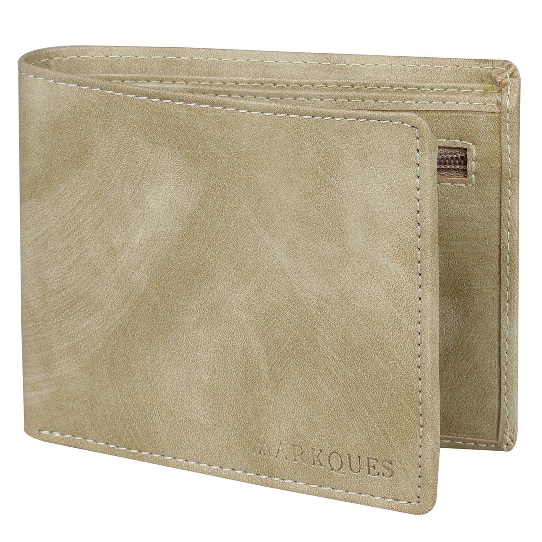 c8c2de3f340f43 MARKQUES Beige Men's Wallet: Amazon.in: Bags, Wallets & Luggage