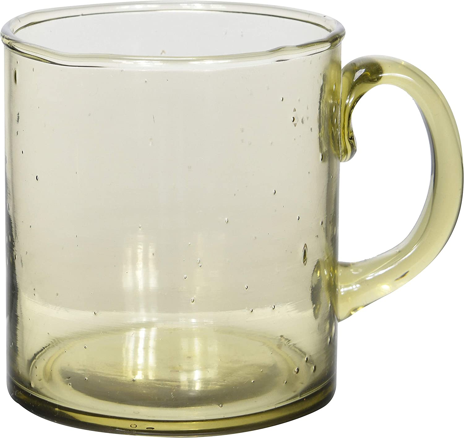 Amazon Com Bloomingville Olive Recycled Glass Mug Home Kitchen