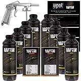 U-POL Raptor Black Urethane Spray-On Truck Bed Liner Kit w/ FREE Spray Gun, 8 Liters
