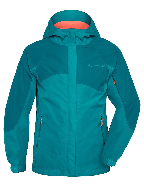 VAUDE Niños Chaqueta Leni- 2L Jacket Primavera/Verano Infantil Color Reef tamaño 110-116