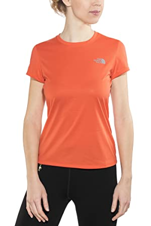 22435b27a146 THE NORTH FACE Reaxion Ampere Running T-shirt Women orange 2017 ...