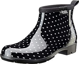 Sloggers 5413BP06 Women's Half Woman's Waterproof Boot, 6, BLK/WHT Polka DOT