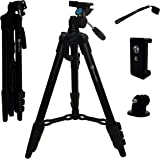 Lightweight Travel Tripod 3-in-1 for Camera, iPhone, Android, GoPro & DSLR w/ Bluetooth Remote, Phone Mount & Carrying Bag   iPhone X, 8, 7, & 6 Plus, Samsung Galaxy S8+   Photo, Video