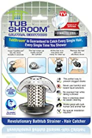 TubShroom Ultra Revolutionary Bath Tub Drain Protector Hair Catcher/Strainer