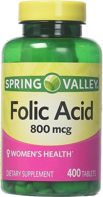 Spring Valley Folic Acid