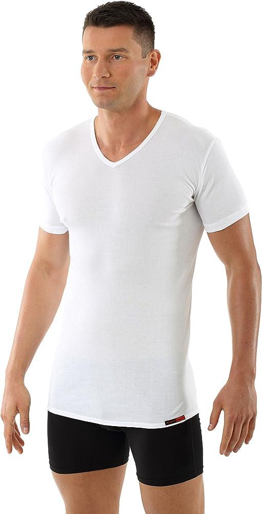 ALBERT KREUZ Camiseta Interior para Hombre con Cuello de Pico y de 100% algodón orgánico Blanco 04/S: Amazon.es: Ropa y accesorios