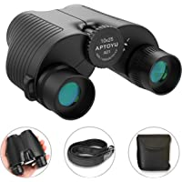 Aptoyu 10x25 Compact Binoculars with Low Light Night Vision for Adults and Kids
