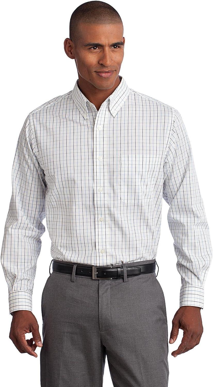 TLS642 Port Authority Men/'s Big /& Tall Button Down Patch Pocket Shirt LT-4XLT