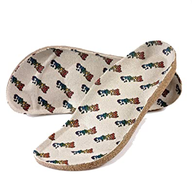 33129a974c58 Birkis Replacement footbed Insoles -- Cork Latex Linen Cover Size 46.0