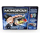 Monopoly Super Electronic Banking Board Game, Electronic Banking Unit, Choose Your Rewards, Cashless Gameplay Tap…