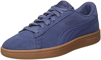 Puma 1948 VULC, Unisex-Kinder Sneakers, Low-Top Sneaker, Blau (Peacoat/White), 23 EU