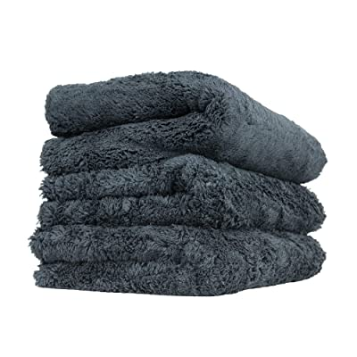 Chemical Guys MIC34703 Happy Ending Ultra Plush Edgeless Microfiber Towel, Black: Automotive