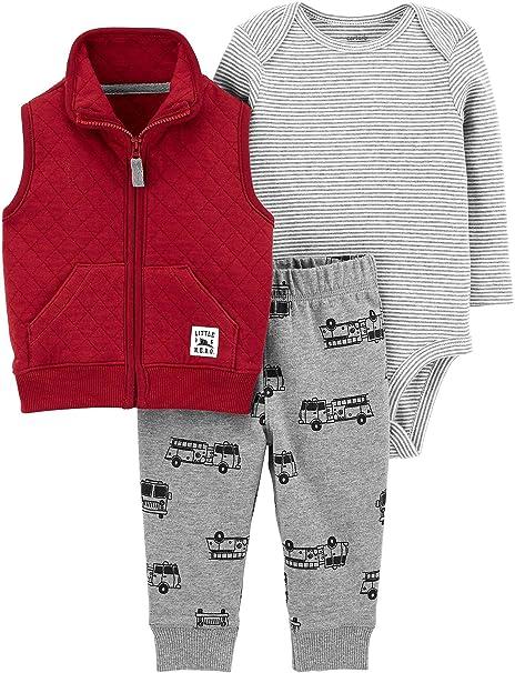Image Unavailable. Image not available for. Color  Carter s Baby Boys 3-pc.  Little Hero Vest Bodysuit Set ... 4dac3c7a7