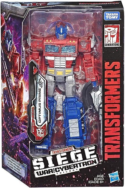 Transformers: Siege War para Cybertron Trilogy Voyager Class Optimus Prime: Amazon.es: Juguetes y juegos