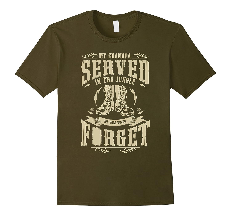 My Grandpa Served in the Jungle Vietnam Veteran T-shirt-ANZ