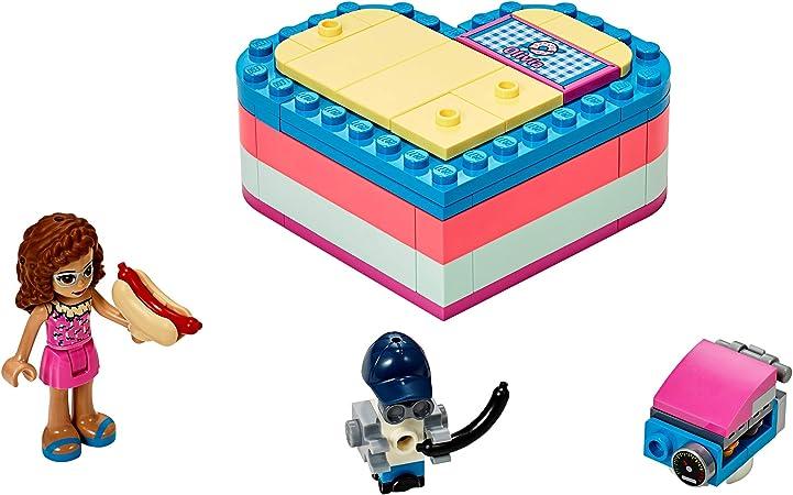 LEGO Friends - Caja Corazón de Verano de Olivia, Juguete con Mini Muñeca de Construcción para Niñas y Niños a Partir de 6 Años, Incluye Figura de un Robot (41387): Amazon.es: Juguetes