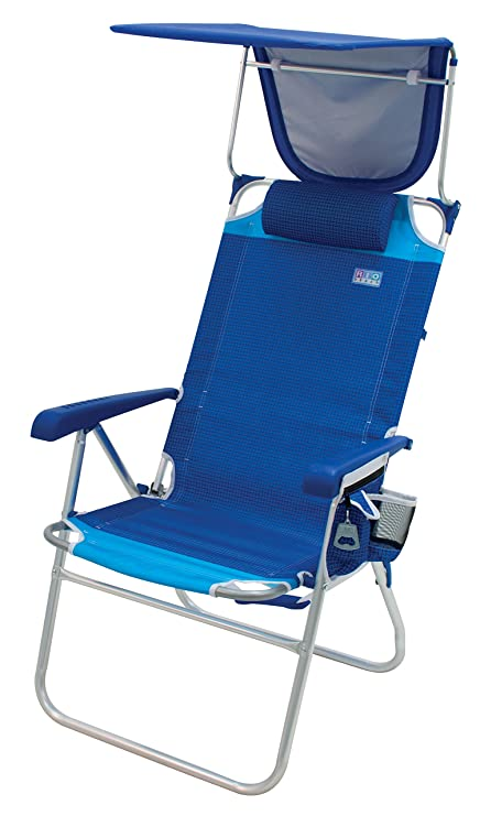 Rio Beach Hi-Boy High Seat 17u0026quot; Folding Beach Chair With Canopy  sc 1 st  Amazon.com & Amazon.com : Rio Beach Hi-Boy High Seat 17
