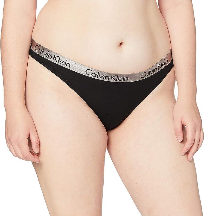 Calvin Klein Radiant Cotton - Thong Ropa Interior para Mujer: Amazon.es: Ropa y accesorios
