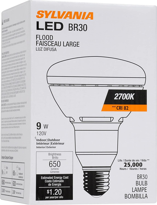 Sylvania 78691 9-watt LED BR30 Reflector lamp Replacing 65-watt Incandescent - - Amazon.com