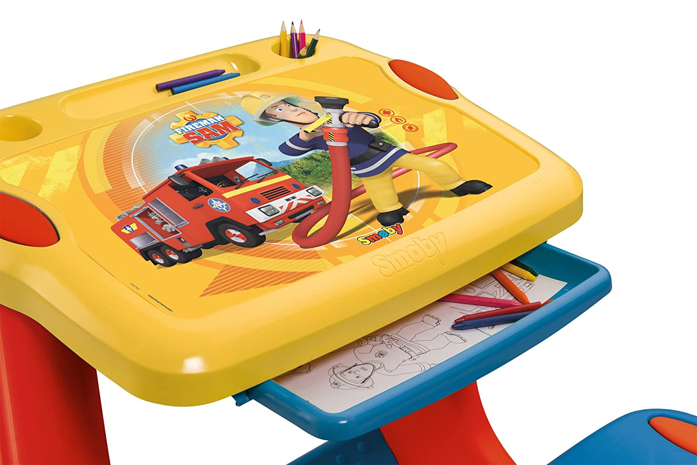 Bureau smoby sam le pompier: bureau petit ecolier bleu bureaux